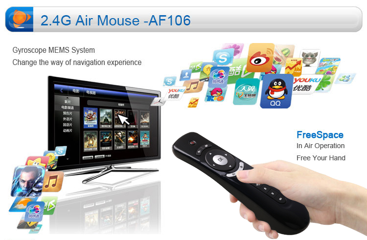 7859e9647f5 Af106 Simple Keyboard 2.4ghz Wireless Air Mouse For Lg Smart Tv ...
