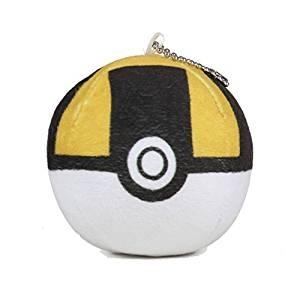 Pokemon Go PokeBall Ultra Ball Soft Plush Kids Toy Keychain by MK BRANDS