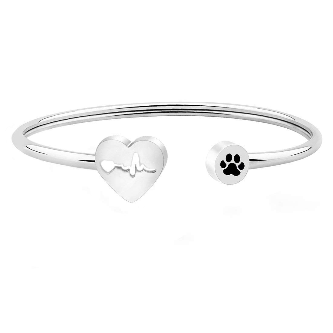 bed48b520 WUSUANED Heart Beat Dog Paw Necklace Bracelet Vet Tech Jewelry Gift for  Veterinarian Nurse Vet Students