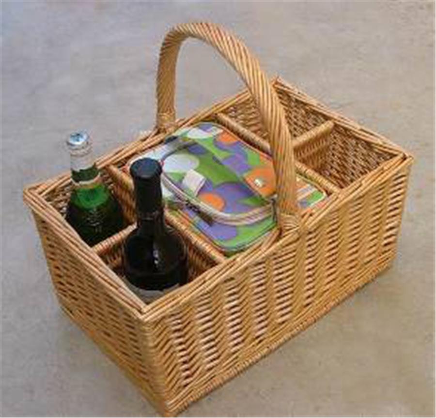 4 Person Picnic Basket Wicker Hamper For Gift Basket