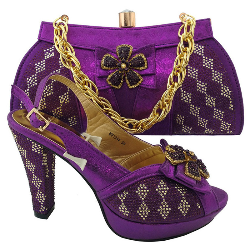 shoes cluth gold set 1 italian Sinyafashion set bag heel Women shoes bag SGF 988 African and and high Elegant matching qFHtT8