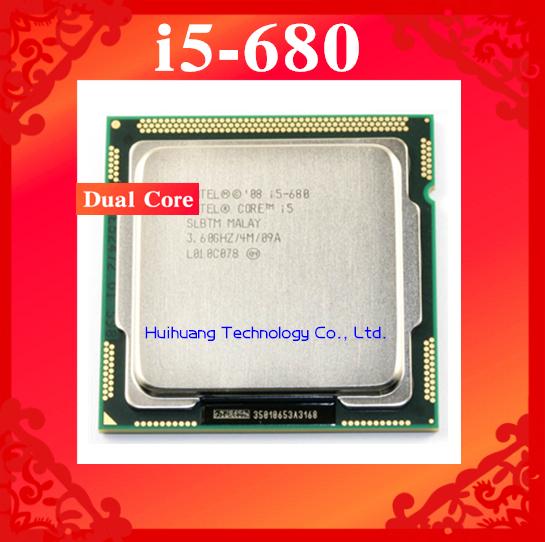 Lifetime warranty Core i5 680 3 6GHz 4M SLBTM Dual Core Four threads desktop processors Computer