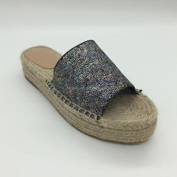 Fashion colorfully OEM slip on women espadrilles slipper shoes 2017