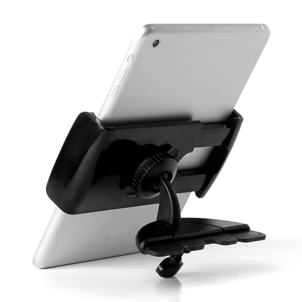 "2 Sizes Phone / Tablet Car Mount DHYSTAR CD Slot Car Holder Cradle Universal 3.5""-5.5"" Smartphone / Cell phone / GPS / iphone 6 6s plus 5s 5, 7"" - 8"" Tablet / ipad mini 1 2 3 4 - Black"
