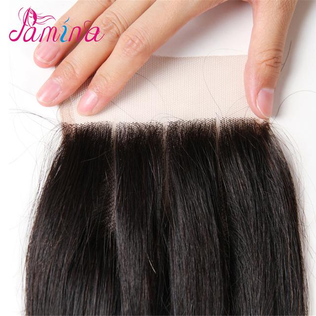 Peruvian Straight Hair 9A Grade 100% Unprocessed Virgin Human Hair 3 Bundles Weave Natural Color with 4*4 closure
