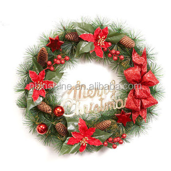 Christmas Deco Garland Christmas Wreath Christmas Wreath With Pine