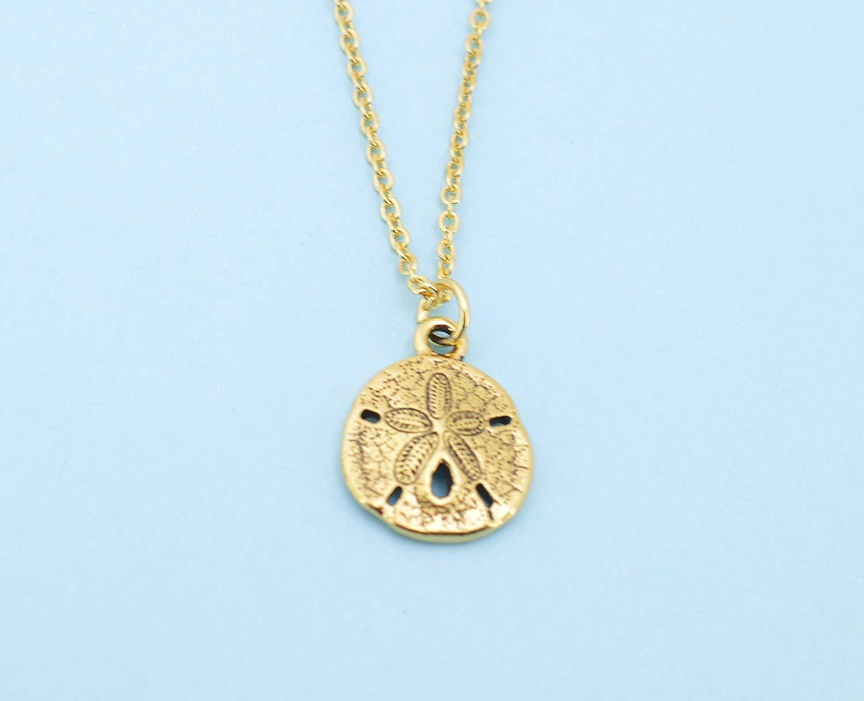 15 mm 14K Yellow Gold Sand Dollar Pendant Jewels Obsession Sand Dollar Charm Pendant