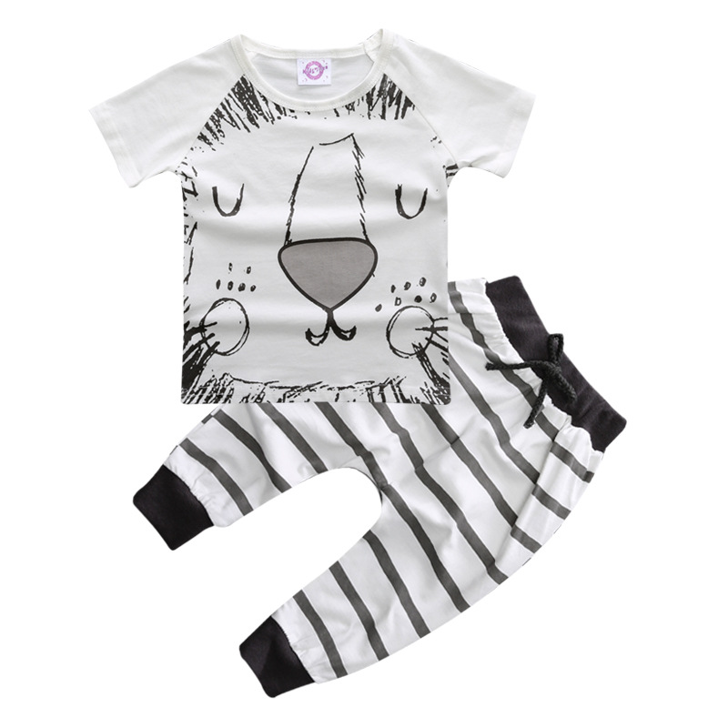 Custom Animal Pattern Boys Baby Clothes Pant Suits Kids Casual Wear