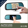 5 inch DVR car gps mirror with bluetooth hands free