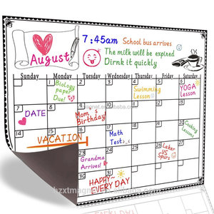 Magnetic Monthly/Weekly Calendar Fridge Magnet
