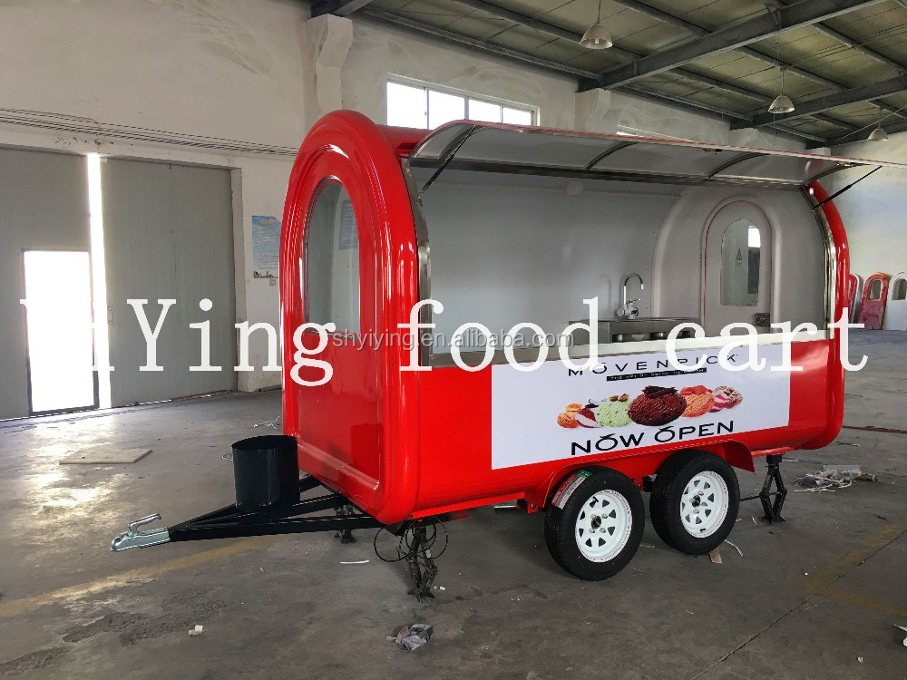 2017hot selling YY-FR300W YYing shanghai solar fiberglass food trailer