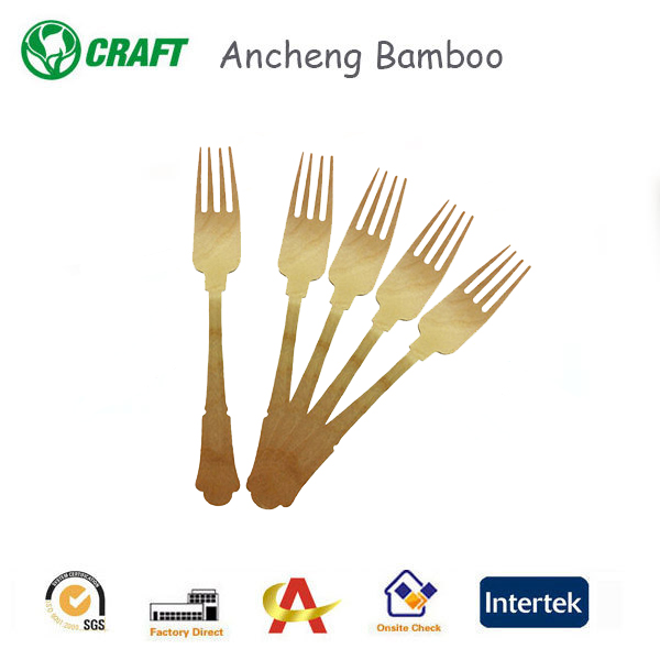 Degradable airline/restaurant eco disposable wood cutlery