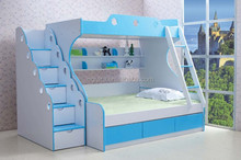 2014 Natural color fashion design durable kids bunk bed is made by E1 MDF board with environmental paint