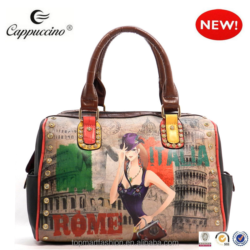 Wholesale lady bags wholesale 2015 tour illustration fashion bags ...