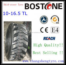 Fashion new arrival 10-16.5 skid steer tires with wheel