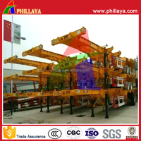 3 Axles Semi Truck Trailer Container Chassis on Sale