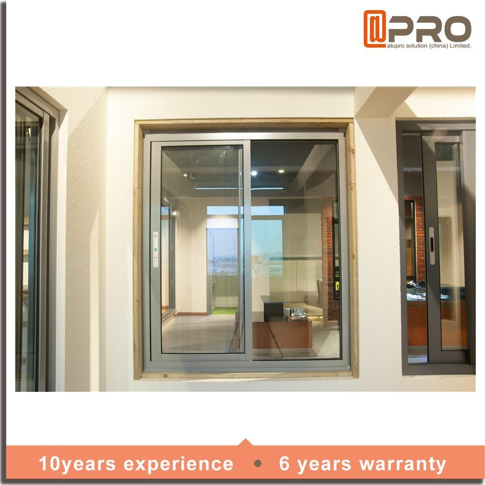 Telaio in alluminio finestra scorrevole in vetro di sicurezza finestra griglia disegno vetrino - Griglia regolabile protezione finestre ...