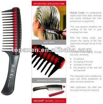 Roll-ka Comb Anti Splicing Hair Detangling Dye Color Applicator ...