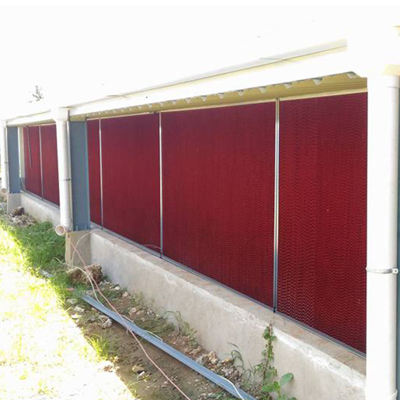 Poultry house used cooling pad system