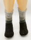 Mens Custom Gradient Chunky Knitted Sherpa Fleece Lining Slipper Socks
