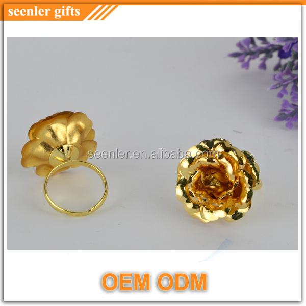 Velvet Box Ng Pure Gold Rose Design Las Finger Ring