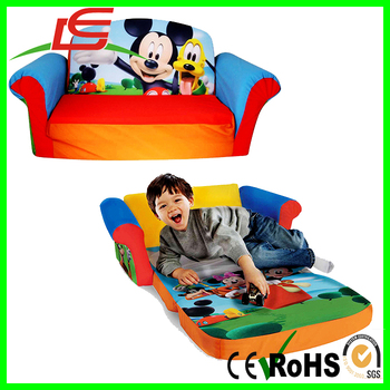 Flip Open Kids Lounger Furniture Toddler Mini Couch Mickey Mouse