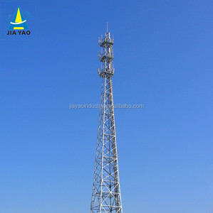 Nine years foreign trade experience Hot dipped galvanized antenna cellular phones gsm cdma wimax communications lattice tower