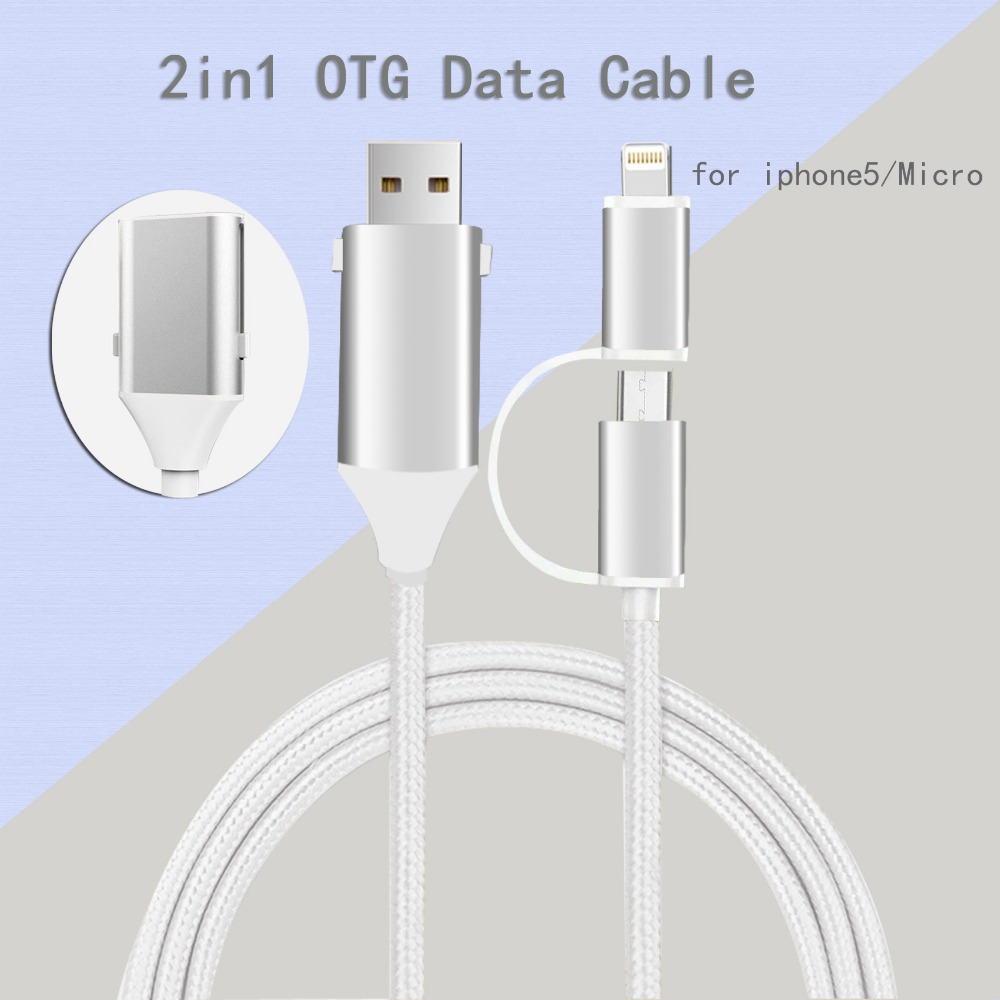 Good conductivity different products cables OTG use for phone/computer/mouse/printer and so on
