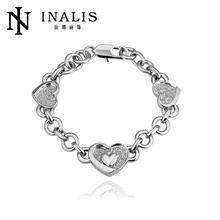 High quality Competitive Price 18k gold plated heart bracelet