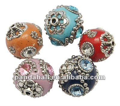 Bulk Handmade Indonesia Clay Beads, with Copper Core(CLAY-G001)