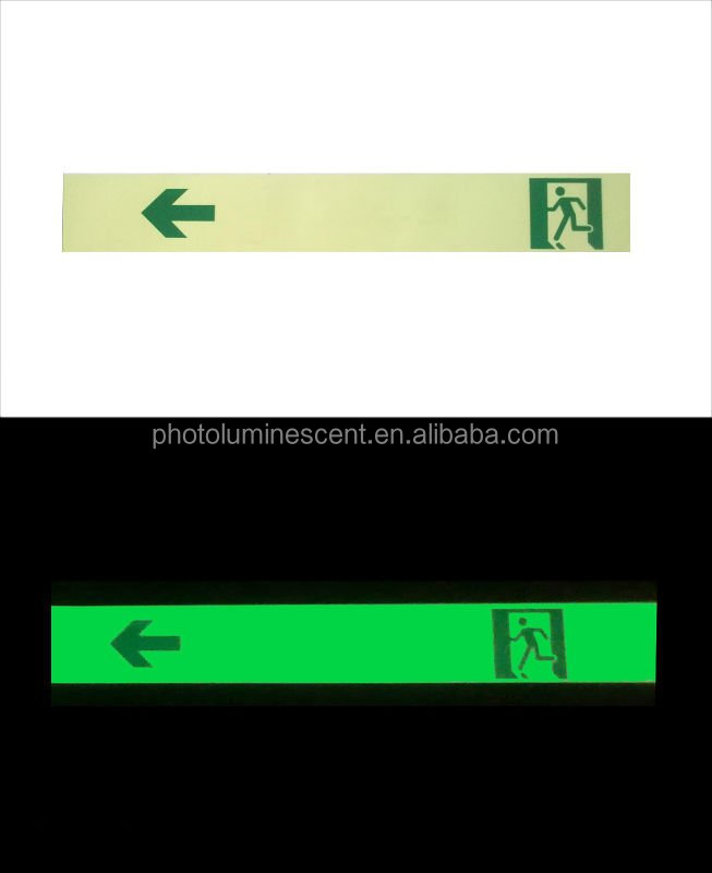 photoluminescent escape indication strip/glow escape signs