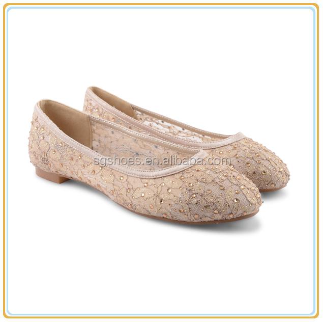 99ddbaa7e Женские балетки туфли-лодочки без каблука кружева стразами свадебная обувь  Размер