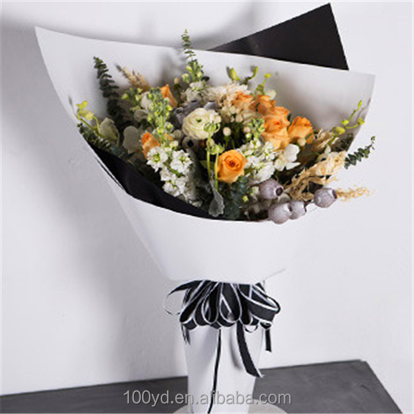 Double color mist side duplex paper Custom flower bouquets wrapping tissue paper