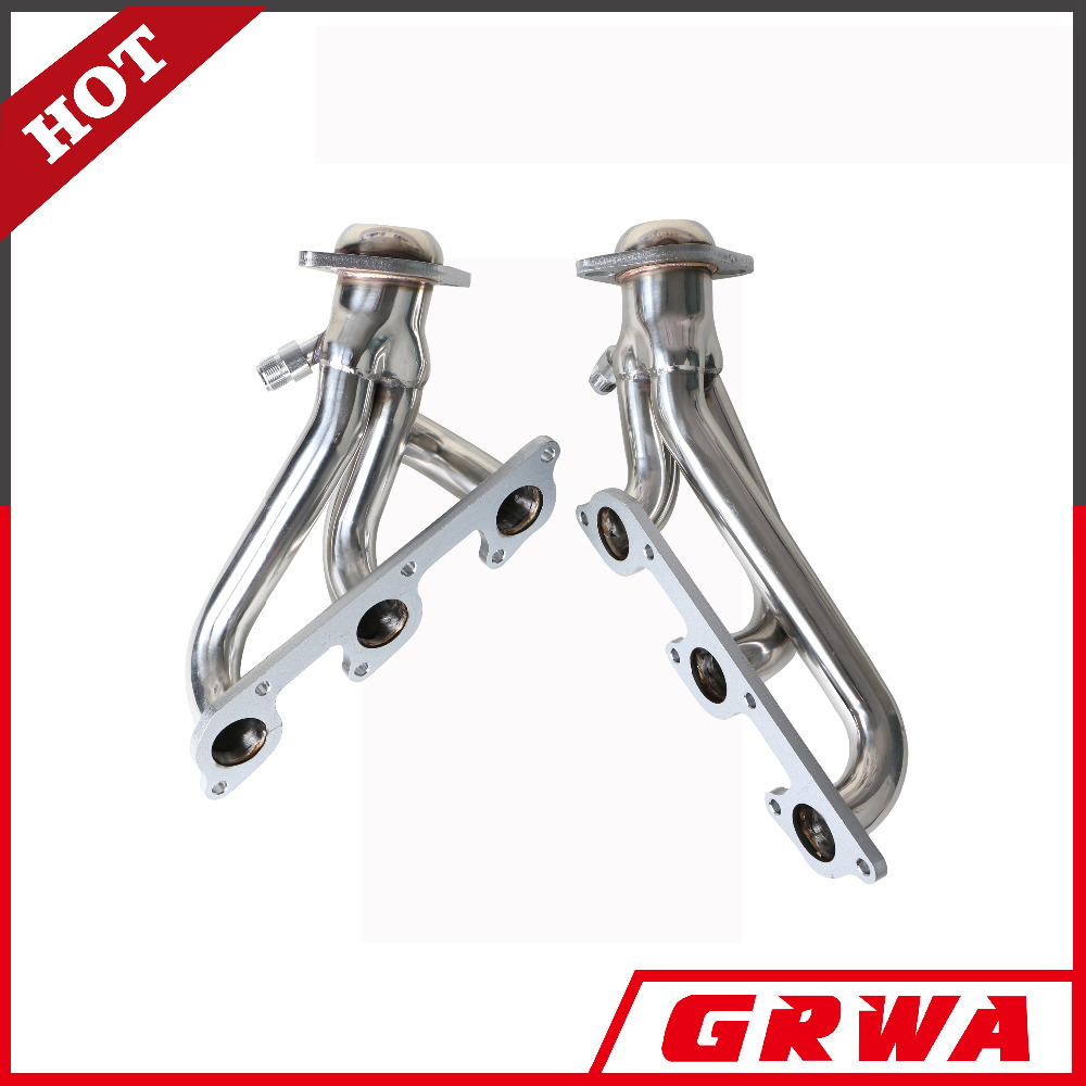 4.0L V6 For Ford Mustang 2x3-1 Design Stainless Steel Exhaust Header Kit Polished Chrome