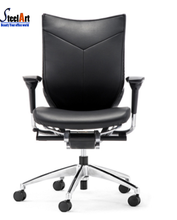 Wooden base PU leather luxury boss chair office chair specification
