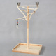 natural wooden parrot playing platform bird standing playground with feeders and toys W60