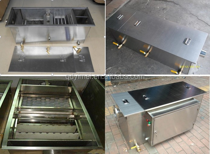 Stainless Steel Grease Trap For Restaurant Wastewater