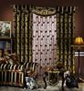 Emboridery high luxury living room curtain with valance