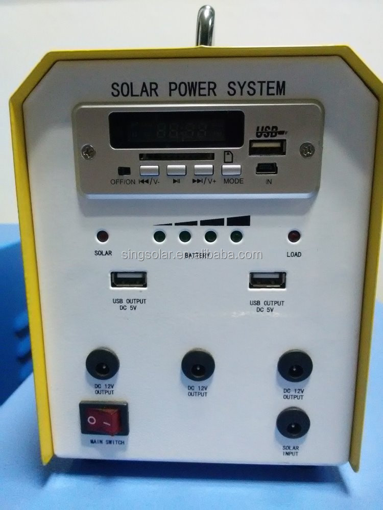Portable Solar Power System with Radio MP3 and charger