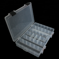 273*176*44.5mm Durable Transparent Visible Plastic Fishing Lure Storage Box Case Fishing Tackle Box