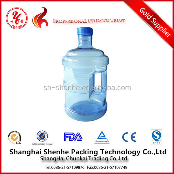 5 gallon plastic water bottle with handle plastic mineral water bottle