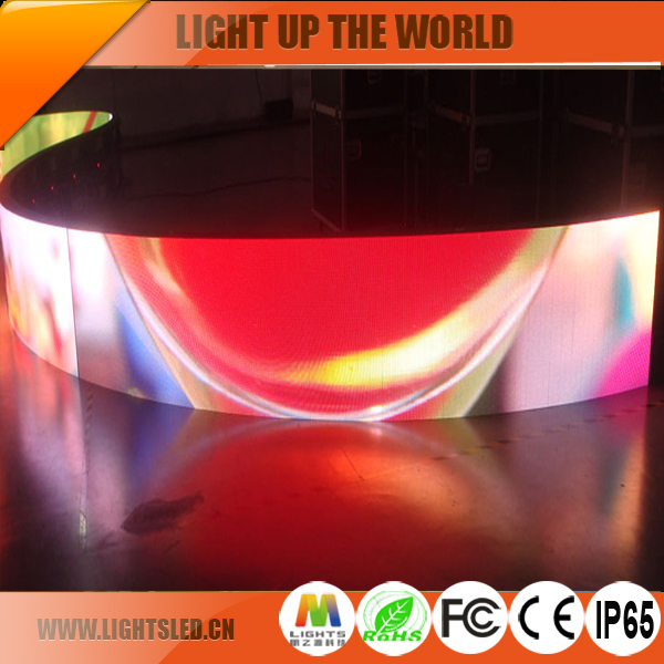 hot new technology advertising p5 hd flexible led rental indoor soft led display/screen/module/solar panels for video game/dubai