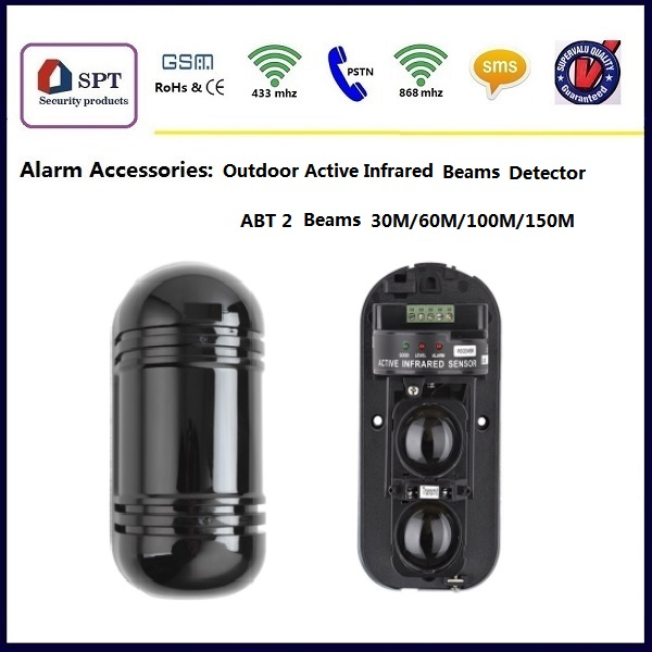 ABT Outdoor Active Infrared Beam Detector for Perimeter Security Alarm System