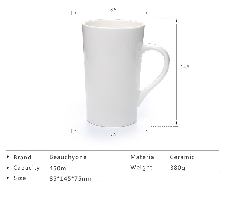 top selling in Amazon 2019 wholesale sublimation mug white ceramic