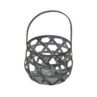 02182 wall mounted wrought iron candle holder hanging decorative