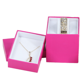 Wholesale Luxury Custom Logo Printed Gift Paper Jewelry Box Bracelet Necklace Ring Jewellery Box