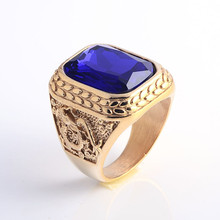 Gold Plating Color Unique Design Ring For Men Indonesia Titanium Ring