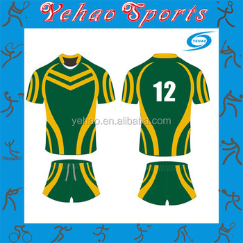 2df491af8ae Sportswear Green Yellow Rugby Jersey And Shorts - Buy Sportswear ...