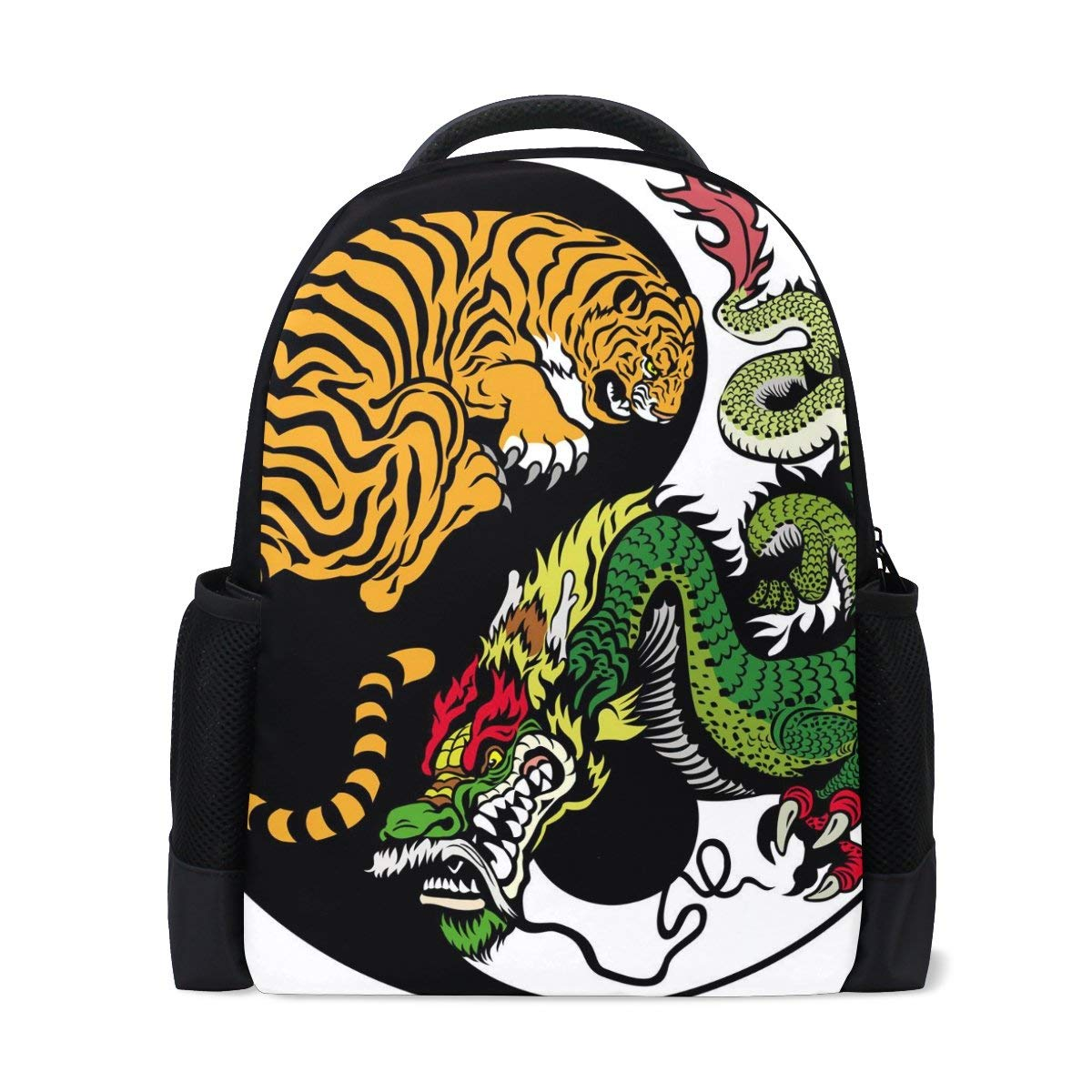 Get Quotations · LORVIES Yin Yang Dragon And Tiger Symbol School Backpack  Casual Daypack Travel Laptop Backpack 0ec8bb27ae