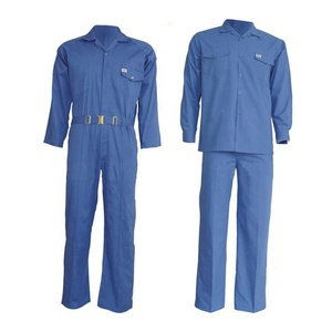 190g royal blue poly-cotton work uniform coverall
